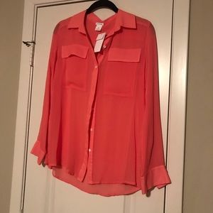 Club Monaco Silk Sheer Top!  New with tags!